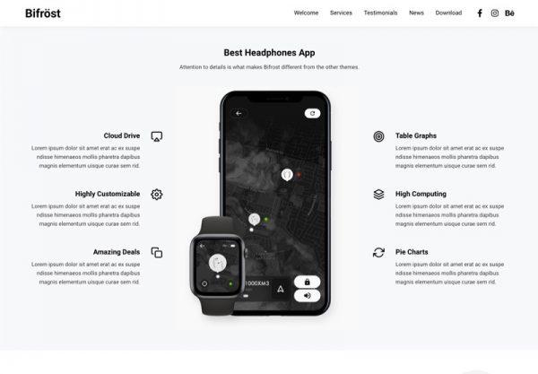App Landing Web Design