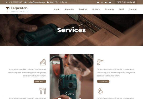 Carpenter Web Design