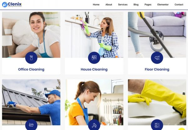 Cleaning Service Web Design