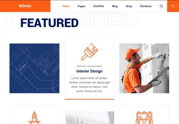 Construction Web Design Theme