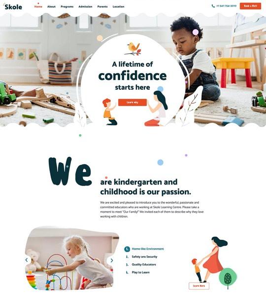 Education & Childcare Centre Web Design Theme