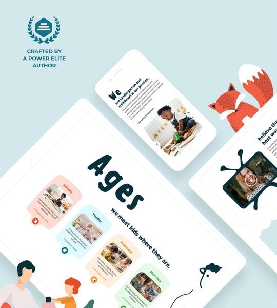 Education & Childcare Centre Mobile Web Design Theme