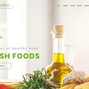 Organiko Nautre Product Web Design Theme