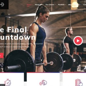 Stamin Gym Website Theme